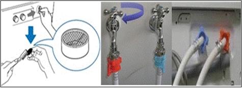 Limpie la suciedad en el filtro con agua corriente y un cepillo; vuelva a colocar en su posición original.
