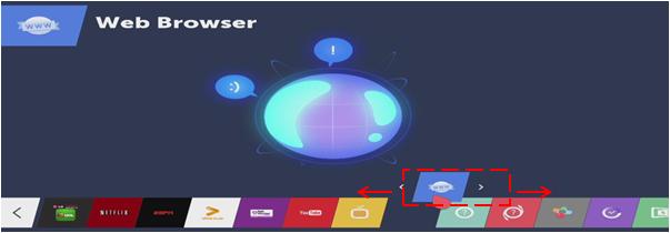 """Después mueva el control Magic de izquierda a derecha hasta colocar la aplicación en donde pretende asignar la aplicación y pulse """"OK""""."""