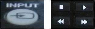 Tecla INPUT en el control remoto; posteriormente seleccione HDMI con las flechas
