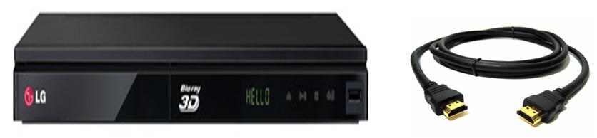 DVD y cable HDMI