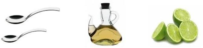 Ponga 2 cucharadas de vinagre -no importa la marca- o el jugo de un limón entero en el recipiente