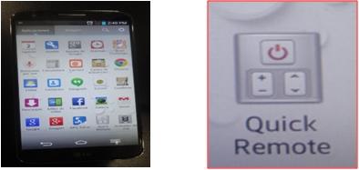 Desde aplicaciones debes buscar la opción Quick remote y activarla