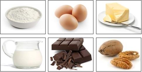 Ingredientes para muffins de chocolate