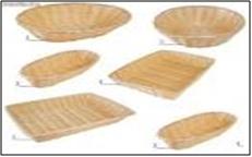 Las canastas fabricadas con cañas, madera o paja, sin ningún elemento metálico, son aptas para usar en el microondas.