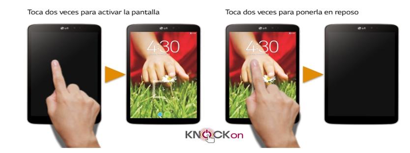 La función KnockOn permite realizar un doble toque sobre la pantalla para boquearla o desbloquearla fácilmente. Un doble toque en la pantalla será suficiente para activarlo o bloquearlo, sin que tengas que tomarlo o pulsar el botón de encendido.