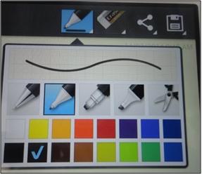 Cómo activo Quick memo: Cambiar el color y el tipo de líneas que desees