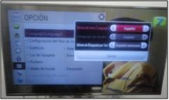 Posteriormente te abrirá una nueva opción de menú en la cual podrás elegir el idioma en el cual desees se muestre