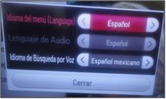 Una vez hecha la elección del idioma deberás dar click en la opción cerrar.