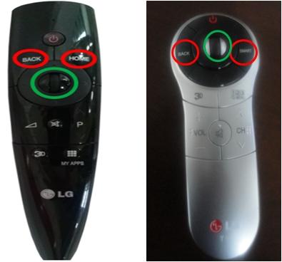 Para desincronizar el control magic presiones de 6 a 10 segundos el botón back + home círculos  rojos al mismo tiempo apuntando hacia el televisor