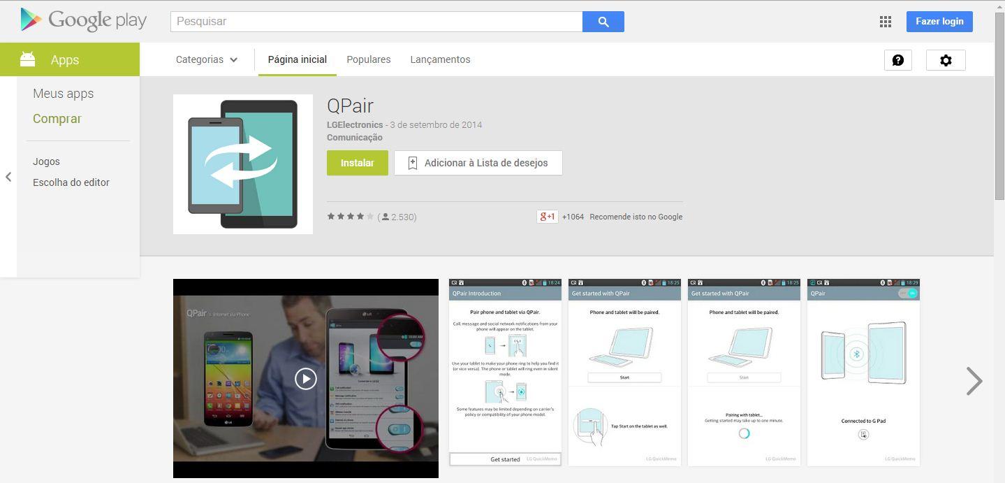 QPair no Google Play