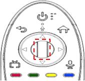 1. Registro del Magic. Haga clic en el botón OK a una distancia de unos 10 a 15 cm del receptor de la TV.
