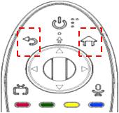 """2. Anular el registro  Para cambiar el vínculo del control Magic y el R/C, primero debe liberar otro vínculo que el control Magic tenga con otra Smart TV.  Pulse el botón """"Atrás"""" y el botón """"Home"""" al mismo tiempo."""