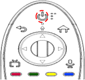 Cuando el botón de Encendido, en la parte superior del control, parpadea en rojo, significa que se ha eliminado el vínculo de la TV actual.