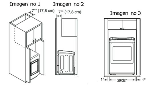 Nota: Para asegurar que la secadora brinde un desempeño óptimo de secado, debe estar nivelada. Para minimizar la vibración, el ruido y movimiento no deseados, el piso deberá ser una superficie perfectamente nivelada y firme.