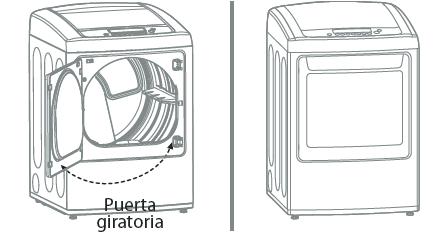6.2Compruebe el giro de la puerta para asegurarse de que las bisagras y el enganche están bien alineados y que la puerta cierra y abre correctamente.