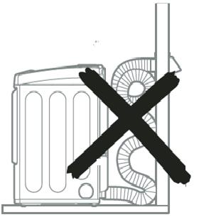 Direccionamiento y conexión del sistema de conducto de escape. Siga las pautas indicadas más abajo para maximizar el desempeño de secado y reducir la acumulación de pelusa en el sistema de conducto. El sistema de conducto y las conexiones NO están incluidas y deben adquirirse por separado.