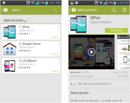 Instale en su Smartphone la aplicación de QPair.