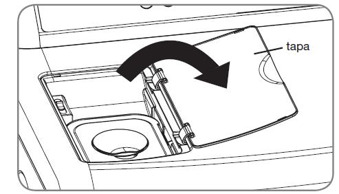 Para llenar el alimentador de vapor siga los 4 pasos.