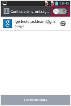 Desabilite a sincronização com a conta Google