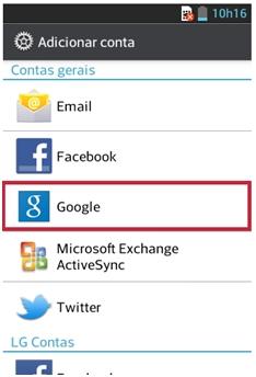 Selecione Google