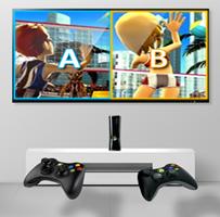 Esta tecnología es compatible con cualquier consola de video juego siempre y cuando cuente con juegos donde la pantalla se divide ya sea izquierda derecha o arriba y abajo.