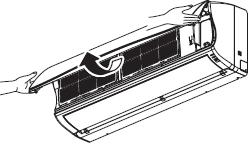 Abra el panel frontal tomando de ambos extremos para poder levantar