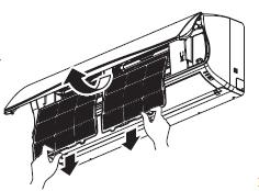 levante ligeramente hacia arriba lengüeta del filtro y jale hacia afuera para poder desmontar el filtro de aire