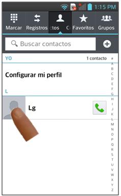 Nombre del Contacto.
