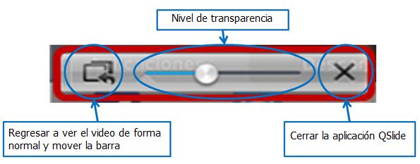 Barra de Transparencia.