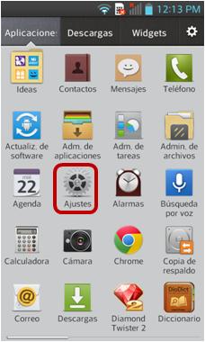 Icono de Ajustes.