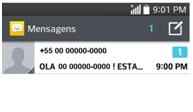 na caixa de entrada localize o número a ser registrado com spam.