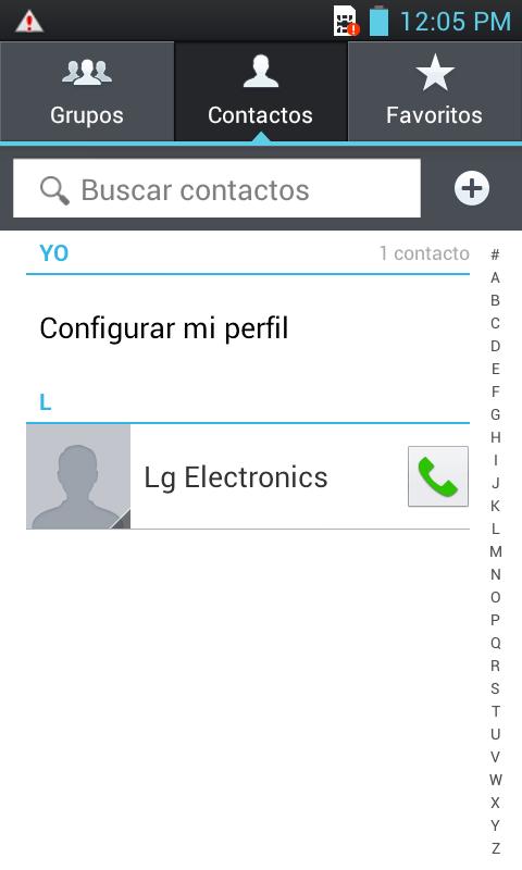 Elegir Contacto.