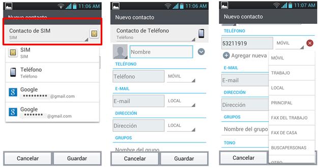 Datos del Contacto.
