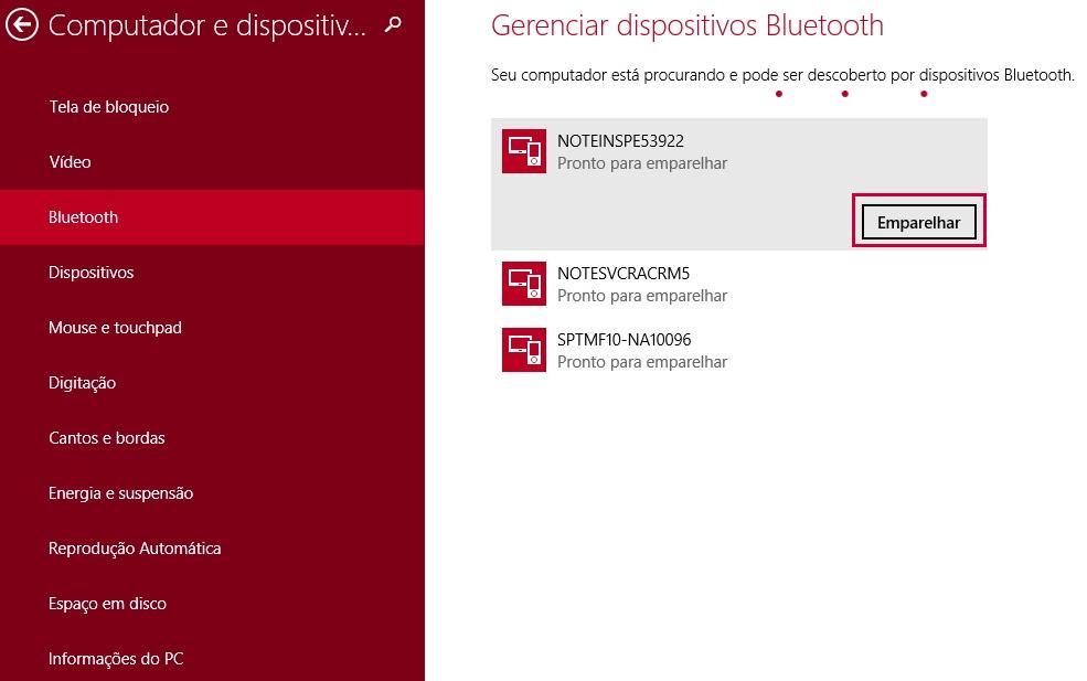 Gerenciar dispositivos Bluetooth