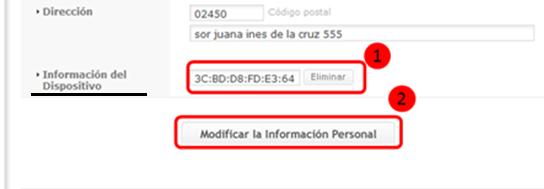 Información del Dispositivo.