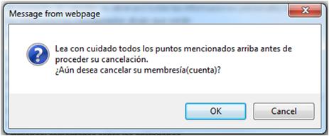 Mensaje de Advertencia.