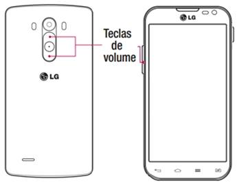 Toque nos botões de volume de seu aparelho, para diminuir ou aumentar o som.