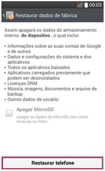 LG Ajuda e Solução de Problema: [G2 Mini - D618] Reset de