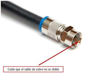 Ejemplo de cable coaxial