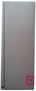 Parte externa do refrigerador