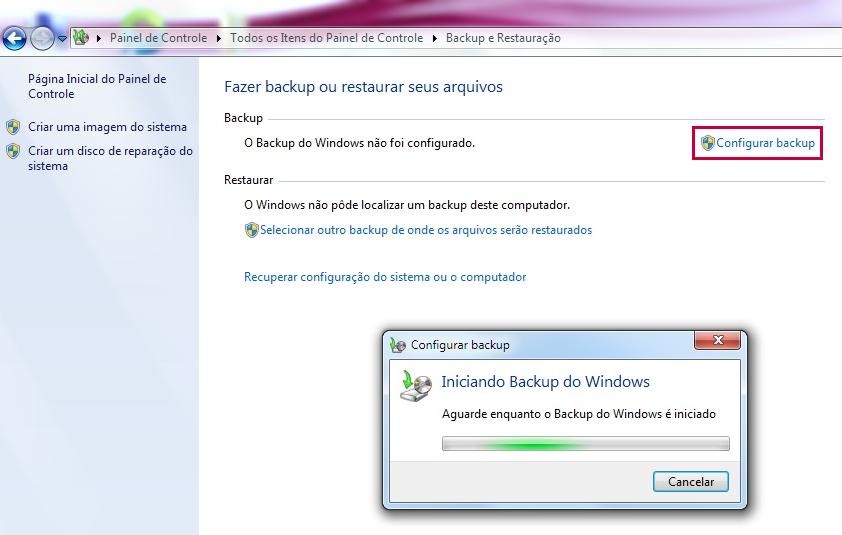 Configurar backup