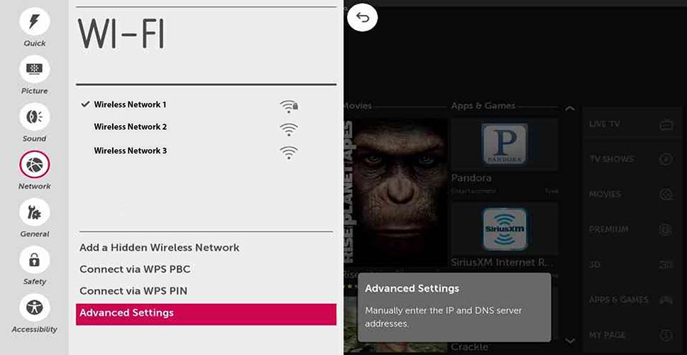 Setting Up Your Wireless Network - webOS 1.0 | LG USA Support