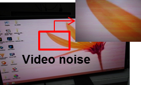 No video, audio/video noise, or flashing video occurs when PC and monitor are connected with Mini DisplayPort cable.