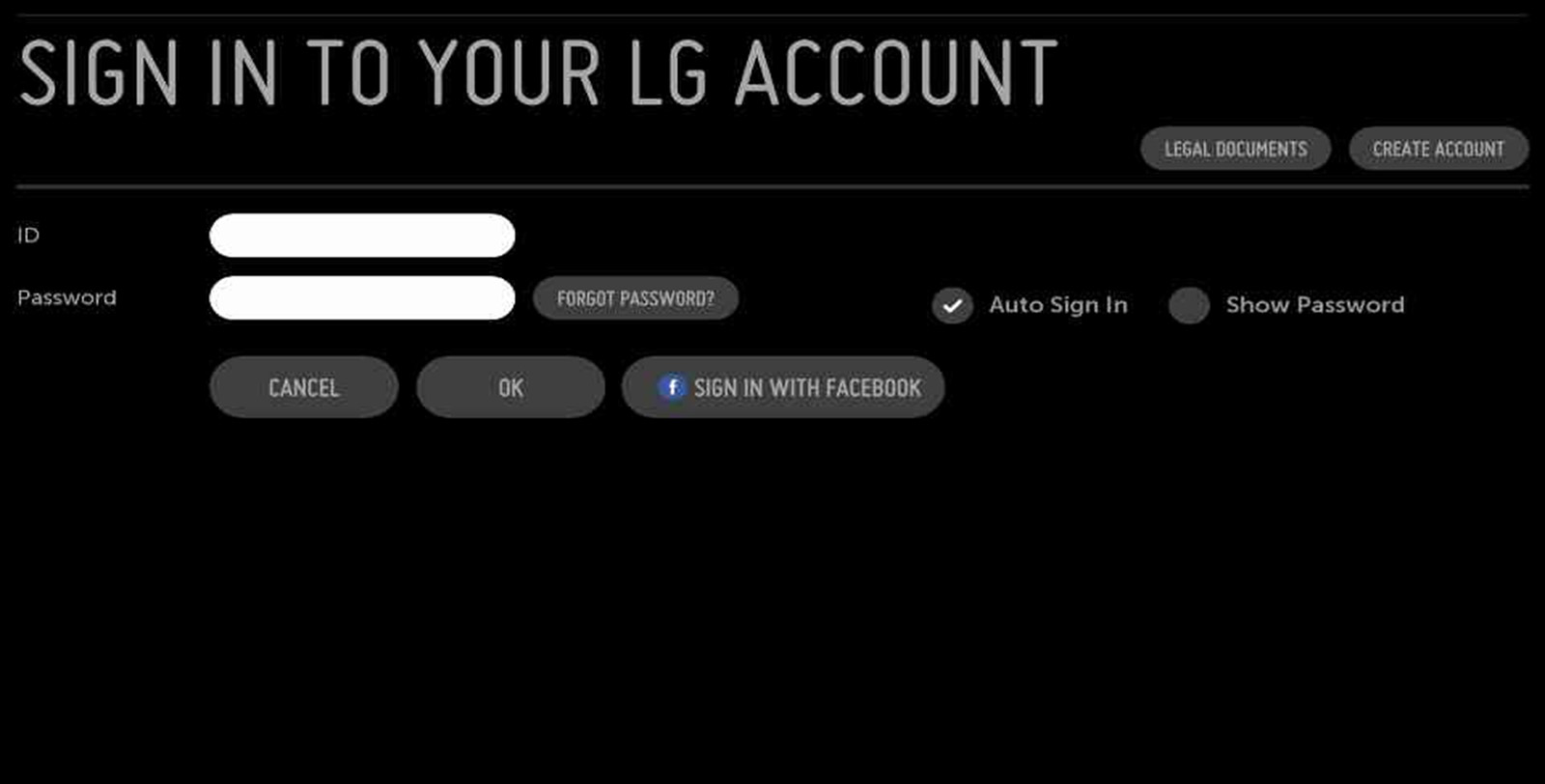 Lg Help Library Webos 20 Settings Menu Usa Edge Lite Exit Sign Wiring Diagram Note This Account Will Pertain To The Use Of Any Smart Tv Or Blu Ray Player A Separate Is Required For Product Registration And Access
