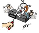 Não danificar a bateria e manter fora de alcance de animais
