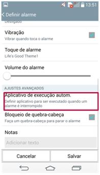 Aplicativo de execução automática