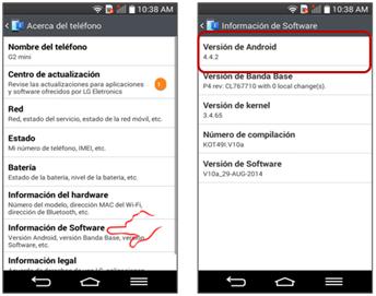 """Para finalizar sólo pulse en """"Información de Software"""", en """"Versión de Android"""" se muestra la información sobre el software."""