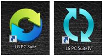 El ícono del PC Suite se instalará en su escritorio o se presentará el software en la barra de inicio de Windows.