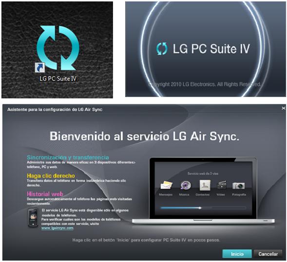 """Al momento de que su equipo de computo termine de reconocer su smartphone, abra el PC Suite IV dando doble clic sobre el ícono de """"LG PC Suite"""" en el escritorio de su equipo de cómputo o desde el ícono de """"inicio"""" de Windows."""