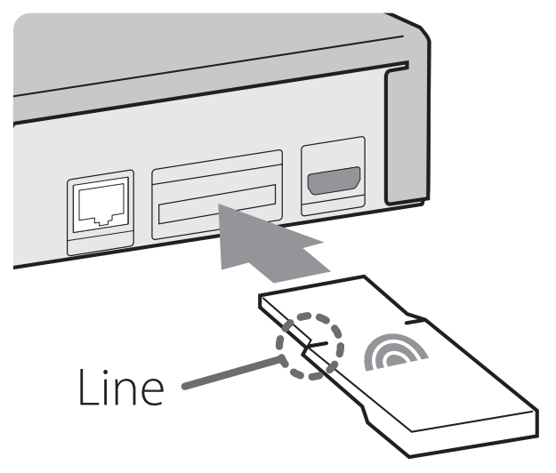 turn off the unit and insert the wireless tx into the wireless connector on  the rear of the unit
